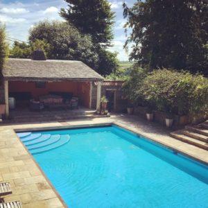 Swimming pool on retreat